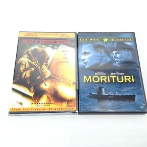 LOT Military Action DVD Movies MORITURI (2004) Marlon Brando + Black Hawk Down