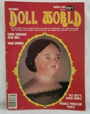 Doll World Magazine August 1981 China Shoulder Head Doll Home Gnome Paper People