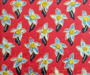 CLASSY Ermenegildo Zegna Red Flowers Silk Tie - NEW & RARE