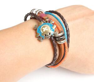 Anime One Piece Chopper Vintage Bracelet Pendant Wristband Cosplay Birthday Gift