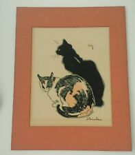 Theophile Steinlen LES CHATS Modern Classic Print #217 Cats Black Tortoiseshell