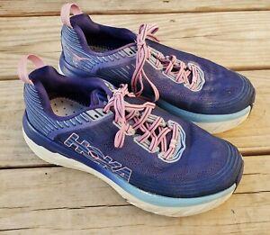 Hoka One One Bondi 6 Women's Purple Lace-Up Athletic Running Shoes Size 8.5