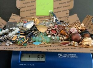 Vintage to Modern, Lot of + 1.5 Pounds, Sterling and more, Wearable Jewelry, or