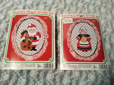 COUNTED CROSS STITCH KITS SANTA & MRS CLAUS W/FRAMES NEW BERLIN CO EMBROIDERY