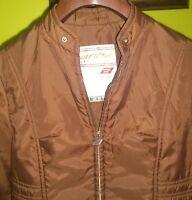Vintage 60s Anba of Austria Womens Ski Jacket Medium Brown Nylon Gr. 40 Jet Clip