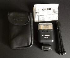 Cobra CX130 unidad de flash en muy buena condición Negro Inc instrucciones, bolsa, Mini Trípode