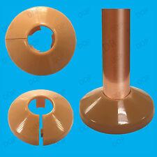 10x in plastica marrone RADIATORE colletti, tubi per 15mm Easy Fit pavimentazione copre