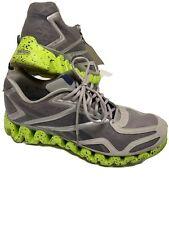 Reebok Zigtech Running Shoes Mens Size 13 Gray Neon Green Confetti