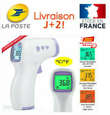 Thermomètre frontal sans contact IR infrarouge pour bébé adultes- Certifié CE-