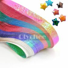 90 Pc Pearl Shiny Lucky Wish Stars Folding Origami Paper DIY Papercraft Stripes
