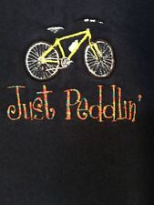 Russell Women's Fashion Sweatshirt Bicycle Bike Appliqué Just Peddlin'