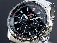 Seiko Mens Chronograph 100m Watch SSB031P1 Warranty, Box