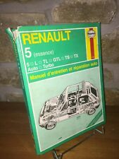 Renault 5 essence | Manuel d'entretien et  réparation auto | Haynes