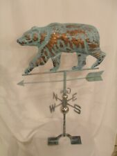 New Large Handcrafted 3D - Dimensional Bear Weathervane Copper Patina Finish !