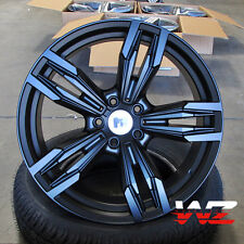 "19"" BMW Style 433 Wheels Matte Black fits 1 2 3 4  328 Series M5 Sport Rims"