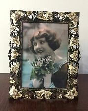 "Edgar Berebi ""Lydia Frame"" 7857/7, Museum Gold, 5"" x 7"" Opening, Made in the USA"