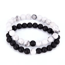 2x couples his & her distance bracelet amoureux de la perle de lave