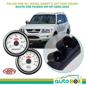 Mitsubishi Pajero NM-NP 2000-2006 Pillar Pod w/ 0-30 Diesel Boost 0-900 Ext Temp