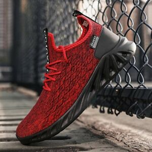 MEN SLIP-ON BREATHABLE LIGHTWEIGHT SNEAKERS CASUAL SPORTS RUNNING ATHLETIC SHOES