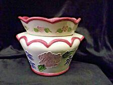 "Handpainted African Violet Pot ""Roses"""