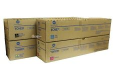 TN615 CMYK Lot of 4  SET , Genuine Konica Minolta BIZHUB PRESS C8000 Toner (X4)