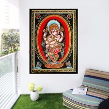 Indian Lord Ganesha Tapestry Throw Decor Bedcover Hippie God Wall Hanging HJU