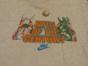 Rare Vintage 90's NIKE Barkley VS Godzilla Tshirt Size: Small (18/20)