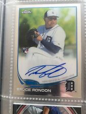 Detroit Tigers Bruce Rondon 2013 Topps Chrome Baseball Auto Rookie Card