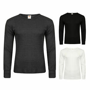Mens Thermal Underwear Long Sleeve Shirt Top Ski Warm Winter Vest ALL SIZES 2 pk