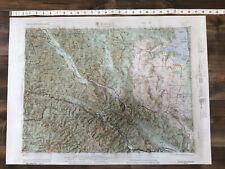 Wallace, Idaho, Montana Regional 3D Raised Map Printed in 1963