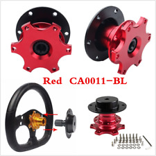 Universal Car Racking Red Steering Wheel Quick Release Hub Adapter Snap Off Boss