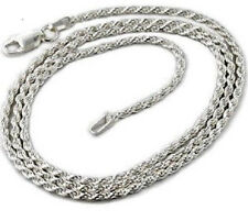 20 Inch White Gold Plated Rope Chain Necklace 9mm