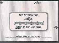 (3) 2013 Leaf Pride of Pinstripes Baseball Cut Signature boxes