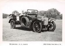 """1956 Glidden Tour Photo #17 I S Isquick in His 1911 Mercedes 3 x 5½"""" Photograph"""