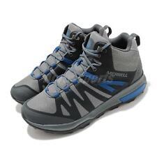 Merrell Zion FST Mid Waterproof Grey Blue Men Outdoors Hiking Trail Shoe J035345