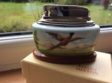 Unused MINTON Porcelain RONSON Table Lighter Pheasant Signed A Holland Rare