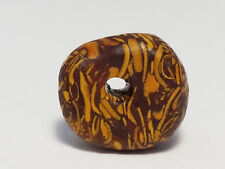 11.5mm ANCIENT RARE FOSSIL STONE BEAD (disk shaped)