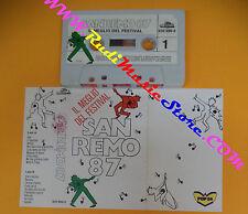 MC SANREMO 87 COMPILATION TOTO CUTUGNO PAOLA TURCI PATTY PRAVO no cd lp dvd vhs