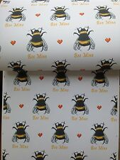 Bumble Bee,wrapping Paper, Gift Wrap, For Bee Lovers, Read Details