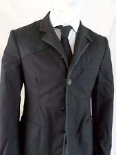 RAG BONE black waxed cotton equestrian blazer sport coat jacket 38 NEW