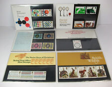 GB 1977 Presentation Packs; Complete Year - 6 Packs; British P.O. Mint Stamps