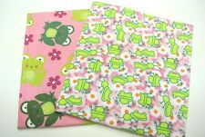 Frogs Daisies Chevron Dot Baby Blanket Can Be Personalized 36x40 Set of 2