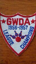 Vintage Mid Century Gwda League Champions Bowling Patch 1956-1957 1950s