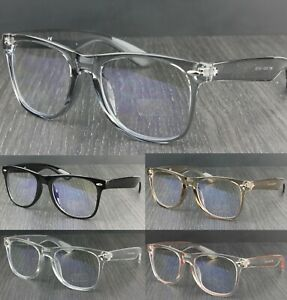 Blue Light Blocking UV400 Clear Lens Classic Square Glasses Eyewear