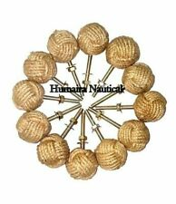 Lot Of 12 Knotty Door knobs - Nautical Drawer pulls - Jute Rope Drawer pulls