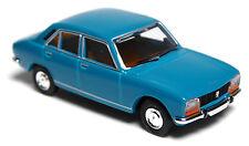 H0 BREKINA Personenkraftwagen Peugeot 504 türkis grünblau 4 türig TOP # 29113