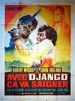 Plakat Kino Western Avec Django Ca VA Entlüftungskit - 120 X 160 CM