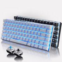 AJAZZ RGB Mechanical Keyboard Mini 82 Keys Layout Blue Black Switches Wired .
