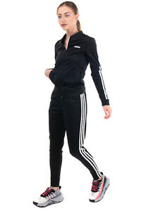 ADIDAS Track Suit Size 2XS Stretch Striped Sides Full Zip Ribbed Neck