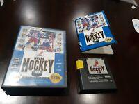 NHLPA Hockey '93 (Sega Genesis, 1992) Cartridge, case and manual